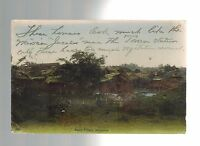 1913 Malay Village Singapore to Brooklyn New York  Real Picture Postcard Cover