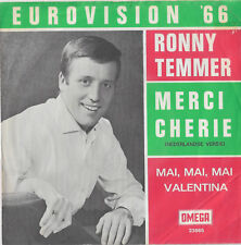 "Ronny Temmer ""Merci Cherie"" Dutch cover version Eurovision Austria 1966"