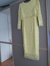 Asos Yellow Lace Dress 10.