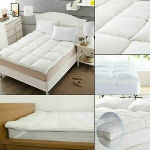 "Microfiber Mattress Topper 4"" Deep Pad Luxury Hotel Quality Soft All Sizes 10cm"