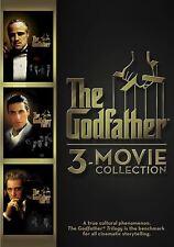 THE GODFATHER COLLECTION (DVD, 2015, 3-Disc Set) Al Pacino Marlon Brando NEW
