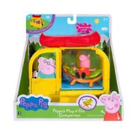 🔥HOT🔥PEPPA PIG Play n' Go Camper Van Play Set with Canoe Hammock Figure