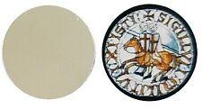 FEEMASON MASONIC KNIGHTS TEMPLAR SEAL METAL GOLF BALL MARKER DISC 25MM DIAMETER