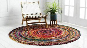 Rug 100% Natural Cotton Handmade Reversible Carpet Rustic Look Modern Look Rugs