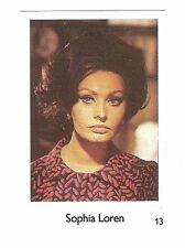 1970s Mazda cars Swedish Film Star Card #13 Italian Sex Symbol Sophia Loren