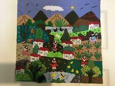 Wall Art Quilt Tapestry from Peru Folk Art