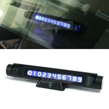 Parking Notification LED Telephone Number Plates Car Accessories For All Vehicle