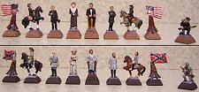 "Chess Set Pieces American History Civil War NEW hand painted polyresin  2½"" king"