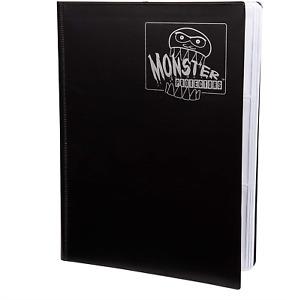 Monster Binder - 9 Pocket Trading Card Album - Matte Black w White Pages - Ho...