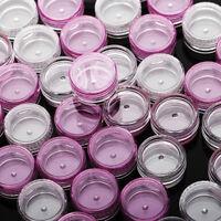 1-50 échantillon récipients cosmétique Pot petit vide 5ml vis plastique voyage
