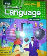 Elements of Language Alabama Student Ed 6th Course Grade 12 2009 9780554019680