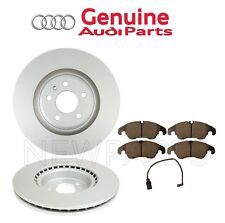 Set of 2 Front Brake Disc Rotors Vented 345mm with Brake Pads OES for Audi A6 A7