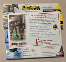 Equine Apple 2x Horse Wormer Equimax * Pyrantel * Duramectin Paste * New