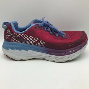 Hoka One One Womens Bondi 5 Running Shoes Red 1014759 Low Top Lace Up 8.5 M