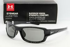 58682f976b10 NEW UNDER ARMOUR EDGE SUNGLASSES Shiny Black frame/Grey lens UA 8600029