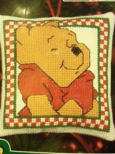Disney WINNIE THE POOH  Christmas Ornament Counted Cross Stitch Kit NEW!!