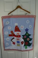 Pottery Barn Kids Advent Calendar Christmas Countdown Snowman Holiday Red Blue