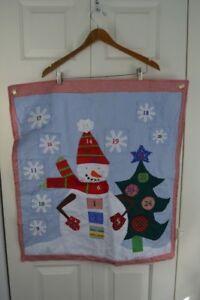 Pottery Barn Kids Advent Calendar Christmas Countdown Snowman Holiday Red Blue