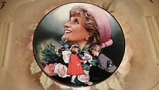 """The Franklin Mint: 8"""" Plate - Diana, Princess of Wales: ENGLAND'S ROSE  P12"""