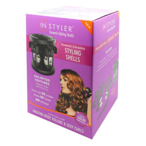 InStyler 16 Pack Ceramic Girls Womens Hair Styling Shells Curls Curlers 680281