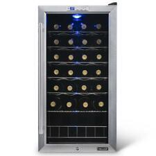 NewAir Wine Cooler Fridge 27 Bottle Exterior Digital Thermostat Stainless Steel