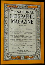 National Geographic Magazine March 1956 PYRENEES - FOSSILS - PENGUINS - TIWI -