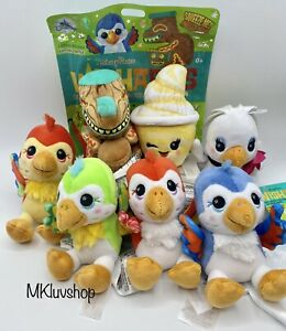 NEW Disney Parks Wishables Plush Enchanted Tiki Complete Set of 7 With VARIANT