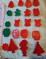 20 Vintage Holiday Cookie Cutter Lot Plastic Christmas Wilton Hallmark