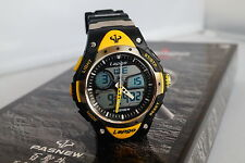 Lapgo Yellow 100M Water Resistant Sports Watch, Analog Digital Dual Time Display