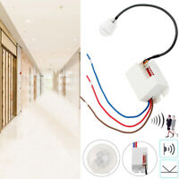 360° Cupboard PIR Sensor Detector Ceiling Occupancy Motion Light Switch 800W