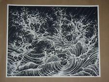 Fingerwaves Brandon Holt signed art print poster Vacvvm heathenlegs Aaron Horkey