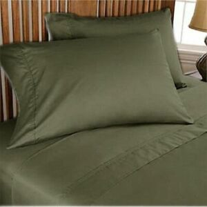1000 TC EGYPTIAN COTTON BEDDING COLLECTION ALL SETS AVAILABLE IN OLIVE COLOR