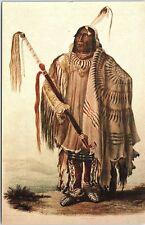 Postcard NY Hidatsa Chief PEHRISKA-RUHPA Museum Of The American Indian AD90