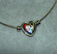 MICHAELA FREY WILLE Hundertwasser Street Rivers 24K Enamel Pendant Necklace NEW