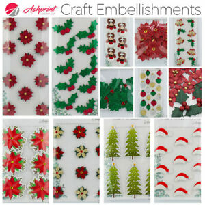 Handcrafted Christmas Decorations Self Adhesive Embellishments Handmade Crafts