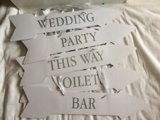 Vintage style Wedding / Party signs