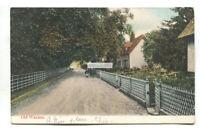 Old Warden, lane,cottages - 1906 used Bedfordshire postcard