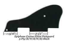 CASINO Elitist 5-Ply Black B/W/B/W/B Pickguard for Epiphone Guitar Project NEW