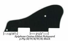 CASINO Elitist 5-Ply Black B/W/B/W/B Pickguard for Epiphone Guitar Project NEW