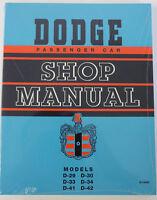 1949 1950 1951 1952 Dodge Shop Service Repair Manual Brand New Reprint