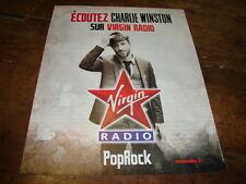 CHARLIE WINSTON - PUBLICITE VIRGIN RADIO !!!!!!!!!!!!!!