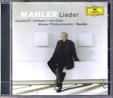 QUASTHOFF URMANA VON OTTER BOULEZ: MAHLER Lieder eines fahrenden Gesellen CD NEU