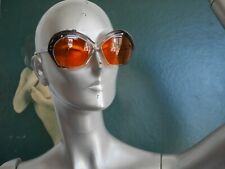 Butterfly Sonnenbrille 70er orange braun Space Age TRUE VINTAGE sunglasses 70s