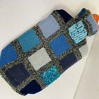 New Hot Water Bottle with Upcycled Lambswool Embellished Cover- Hand Made in USA