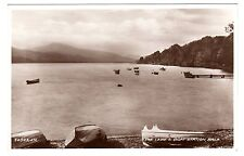 Lake & Boat Station - Bala Real Photo Postcard c1940s