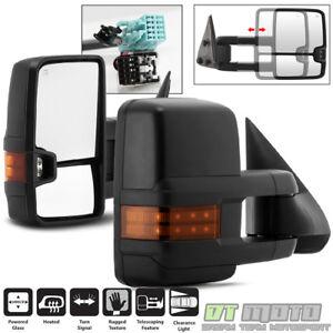 PAIR 2003-2006 Chevy Silverado GMC Sierra Power Heated w/LED Signal Tow Mirrors