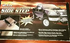 Bully AS-500S Truck Steps, Adjustable, Aluminum, Stainless Steel, Polished, Each