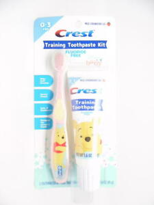 Disney Baby Crest Training Toothpaste Kit with Toothbrush Fluoride Free 1.6 oz.
