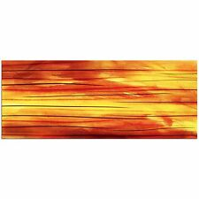 Unique Contemporary Abstract Wall Painting Modern Metal Art Orange & Red Artwork