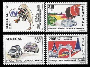 SENEGAL. Paris-Granada-Dakar Rally. 1996 Scott 1195-1198.  MNH (BI#38)
